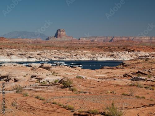 Cadres-photo bureau Orange eclat Lac Powell dans le désert