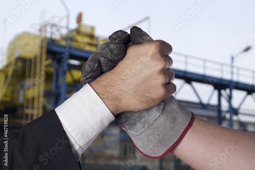 Machtkampf - Arbeitskampf Fotobehang