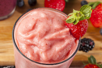 Fototapeta Fresh Organic Strawberry Smoothie