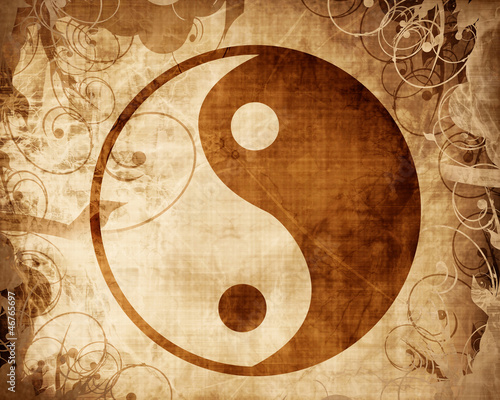 Cuadros en Lienzo Yin Yang sign