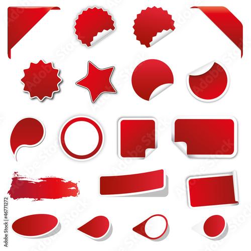 Fotografie, Obraz Blanko Rabatt Sticker - Reduziert - Neu - Sale / Rot