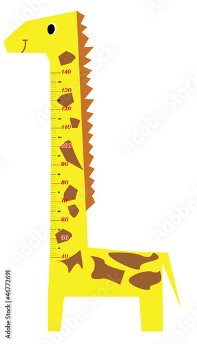 Poster Echelle de hauteur Height scale kids giraffe vector