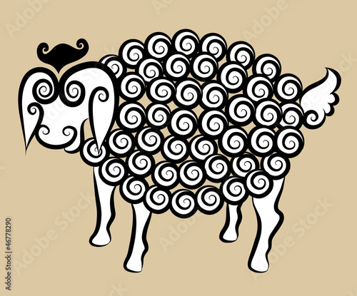 Decorative sheep ornament