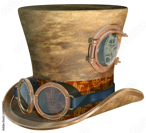 Fotografering Steampunk Hat and Goggles