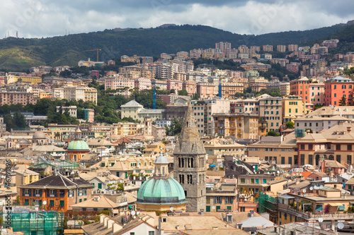 Foto auf AluDibond Wien City CenterÊof Genoa, Italy