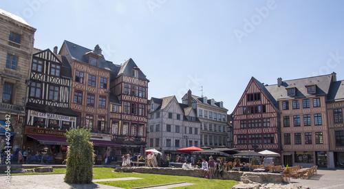 Fotografía  Le case a graticcio di Rouen - Francia