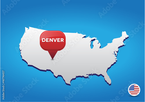 Denver On Usa Map Buy This Stock Vector And Explore Similar