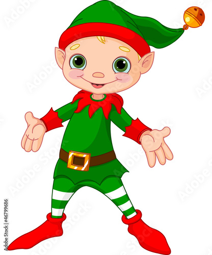 Foto auf Gartenposter Die magische Welt Happy Christmas Elf
