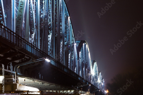 Illumination of Torun bridge