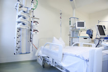 Intensive Care Unit With Monitors