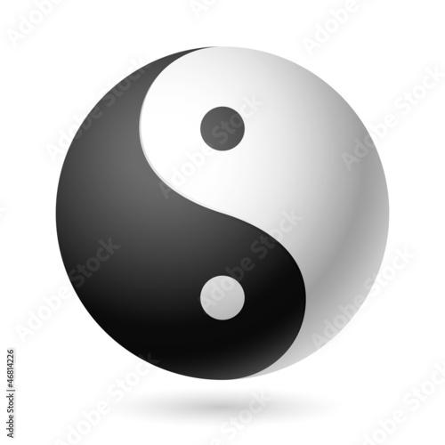 Fotografie, Obraz  Yin Yang symbol