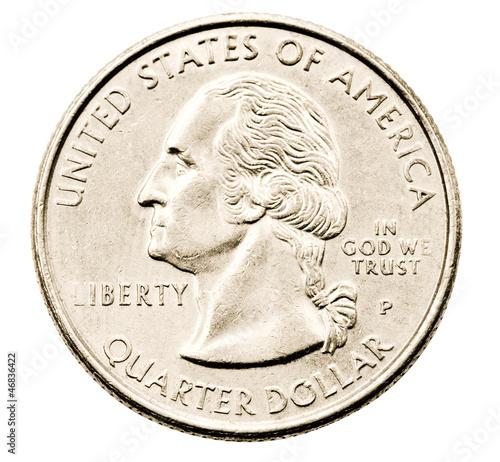Obraz na plátně Close-up of us quarter dollar
