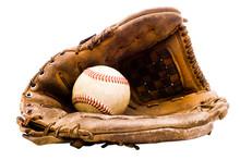 Baseball With Baseball Glove
