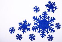 Nine Snowflakes Of Dark Blue