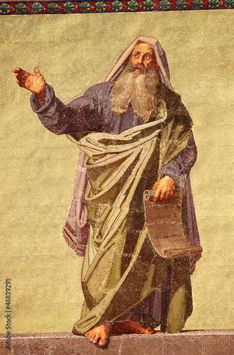 Mosaic of the Prophet Daniel in Basilica of Saint Paul. Rome Fotomurales
