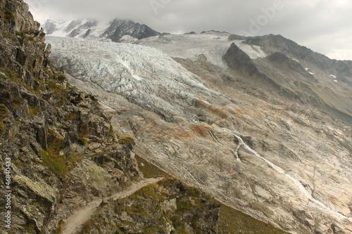 Fotografie, Obraz  footpath to Glacier du Tour in French Alps