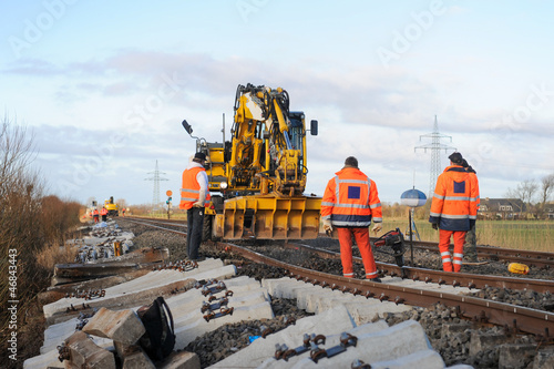 Fotoposter Spoorlijn Gleisbauarbeiten
