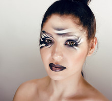 Faceart With Black And White S...