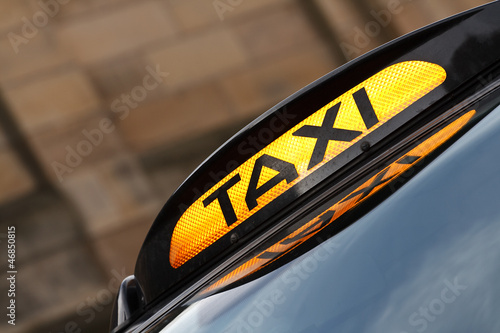 Canvas Print Taxi Sign