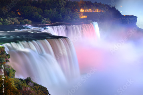 Foto op Canvas Watervallen Niagara Falls in colors