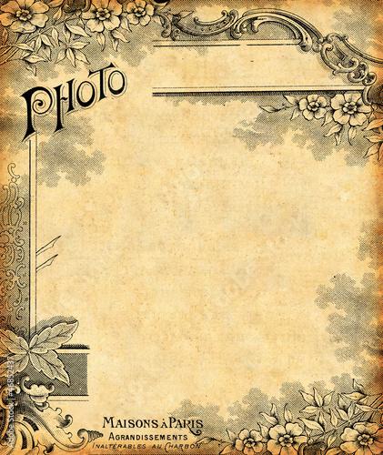 Papiers peints Affiche vintage Fond 1900