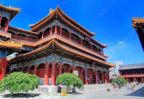 Photo Stands Beijing temple des lamas, pavillon