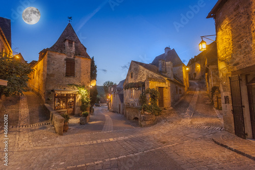 Fotografie, Obraz  medieval village of Beynac, Dordogne, France
