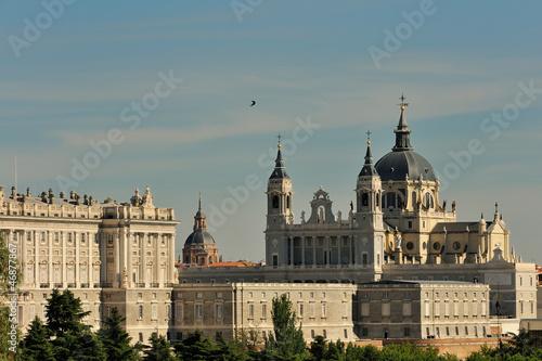 In de dag Madrid catedral de la almudena de madrid