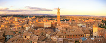 Siena Sunset Panoramic Skyline...