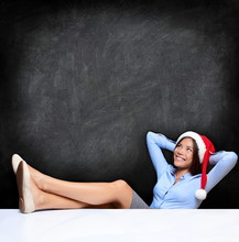 Christmas Business Woman Relax...