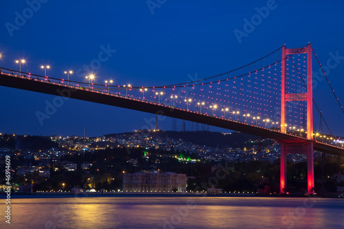 Bosporus Bridge at the istanbul Turkey Poster