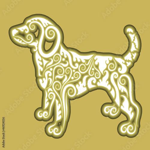 Dog icon ornament
