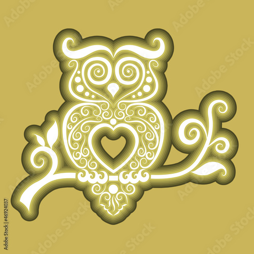 Owl icon ornament