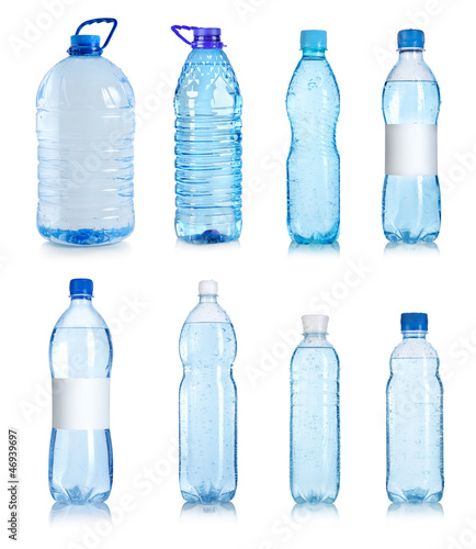 Photo  Collage of water bottles