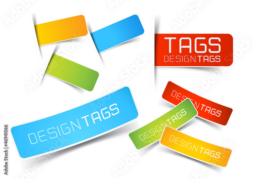 Design Tags and Labels Poster Mural XXL