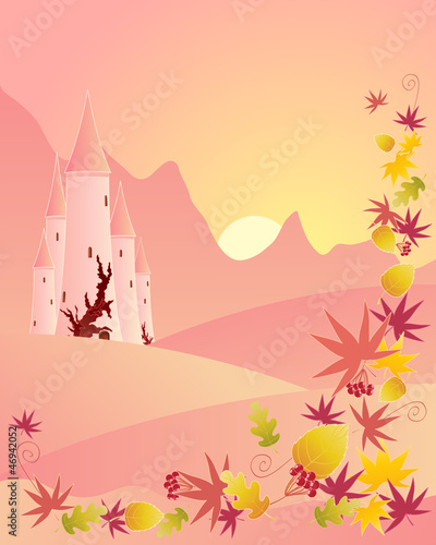 Poster Castle autumn castle