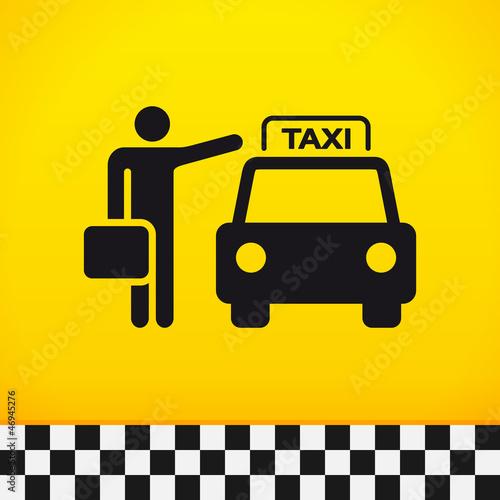 Fotografie, Obraz  Taxi Theme with Passenger