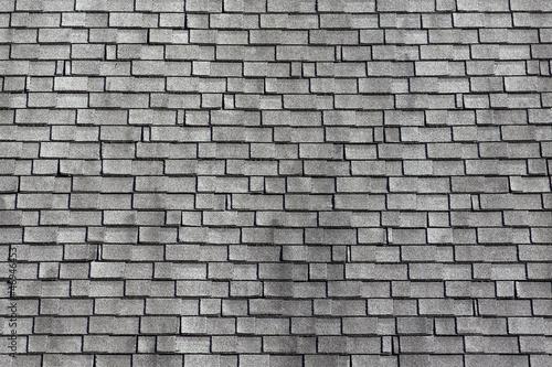 Garden Poster Brick wall Worn asphalt shingles