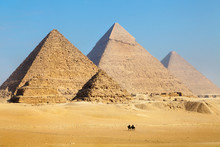 View Of The Pyramids Near Cair...