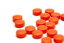 Orange Pills Over White