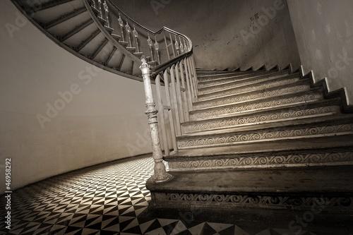 Cadres-photo bureau Escalier Zabytkowa klatka schodowa