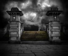 Spooky Old Sandstone Graveyard...