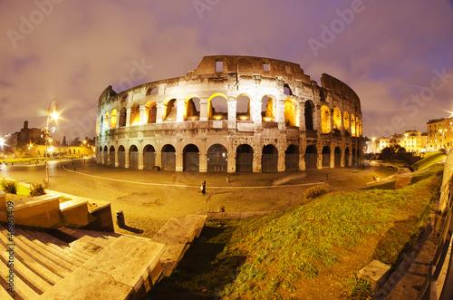 Obrazy na płótnie Canvas Lights of Colosseum at Night
