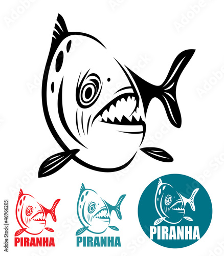 Piranha fish Canvas-taulu