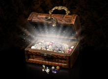 Antique Chest Of Pirate Treasure