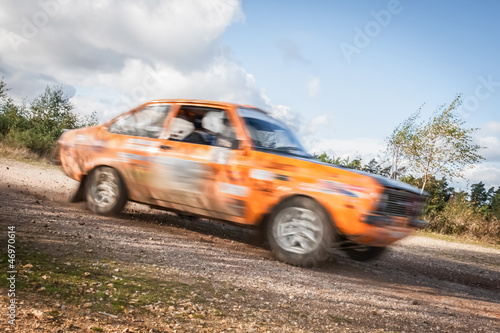 Photo Stands Motor sports speeding rally car motion blur