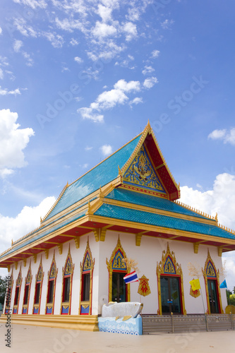 Fotografia, Obraz  temple in thailand on the blue sky background