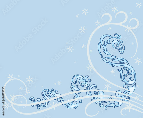 Snake year, New Year card with Chinese zodiac symbol 2013