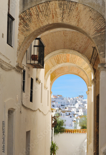Fototapety, obrazy: Arches  in Vejer, a white town in the south of Spain