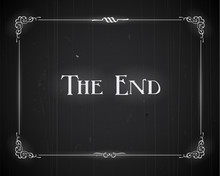 Movie Ending Screen - Editable Vector.